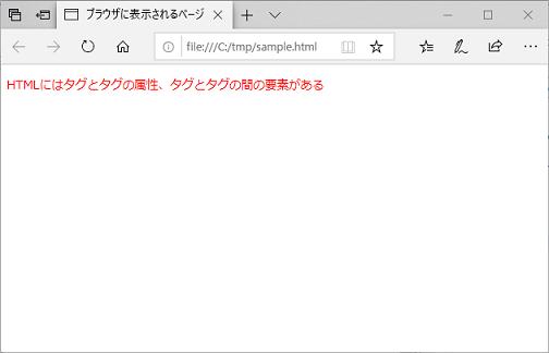 WebブラウザーでのHTMLコードの表示例